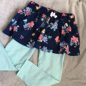 Toddler girls skirt and legging pants